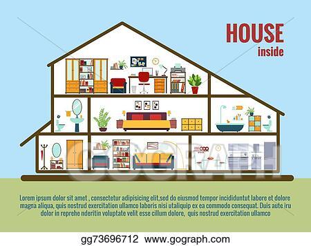 Eps Illustration Vector House Interior Vector Clipart