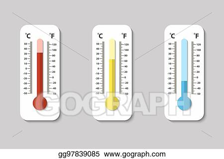 vector illustration vector icons of celsius and fahrenheit