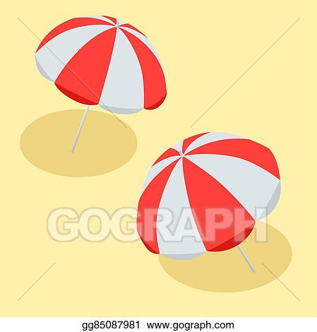 Vector Ilration Beach Umbrella