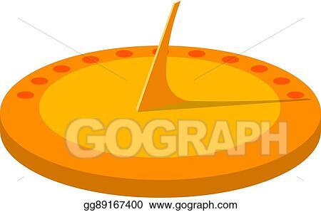 Eps Vector Vector Illustration Of A Sundial Isolate Cartoon Sun