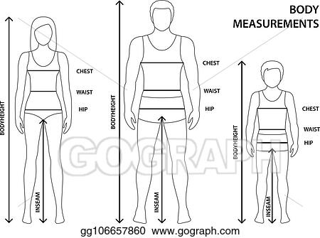 Vector Stock - Vector illustration of contoured man, women