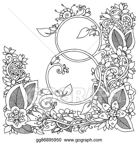 Zen Anti Stress Coloring Pages Adults Stock Vector (Royalty Free ... | 466x450