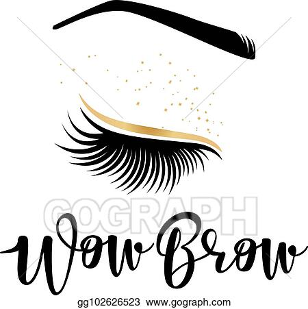 ebbc54f4509 Vector Illustration - Vector illustration of lashes and brows. Stock ...