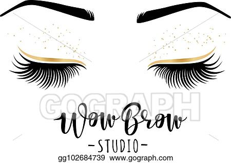 e2b61fb8eb2 Vector Illustration - Vector illustration of lashes and brows. Stock ...