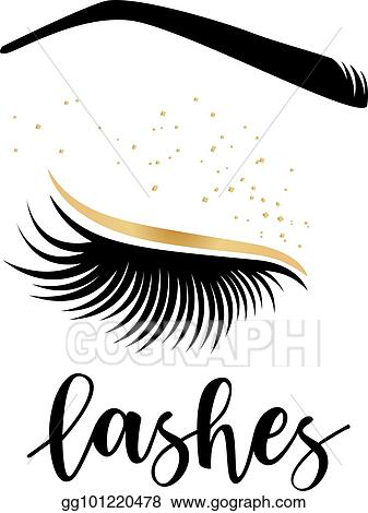 aea81baded8 Vector Illustration - Vector illustration of lashes. Stock Clip Art ...