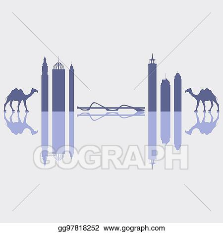 Vector Illustration - Vector illustration of united arab