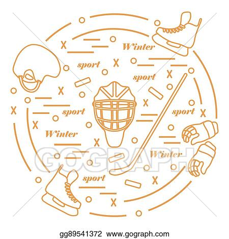 Vector Clipart Vector Illustration Of Various Subjects For Hockey