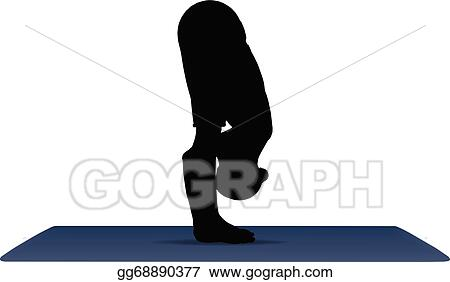 Vector Illustration Vector Illustration Of Yoga Positions In Standing Forward Bend Pose Stock Clip Art Gg68890377 Gograph