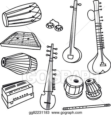 Musical Instrument Drawing