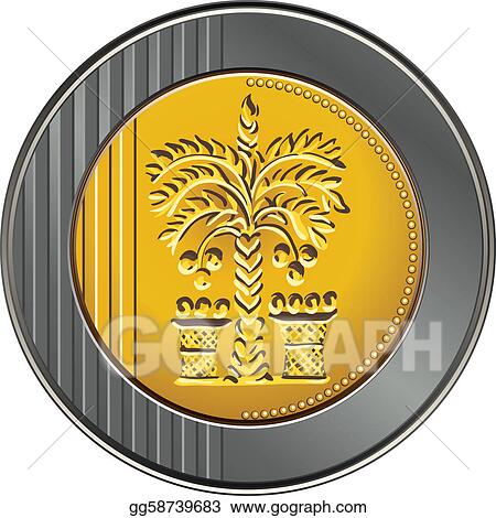 Vector Stock Vector Israeli Shekel Coin With The Image Of The Date