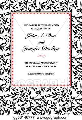 Vector art vector ivy invitation frame clipart drawing gg56146777 vector ivy invitation frame stopboris Image collections