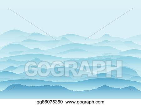 Eps Vector Vector Landscape With Mountains Background Or
