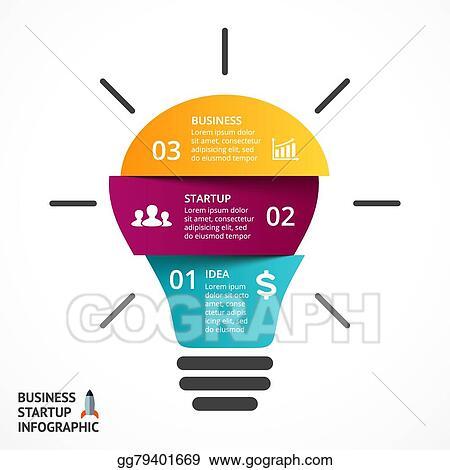 Eps Illustration Vector Light Bulb Infographic Template For Lamp