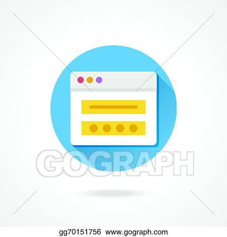 Vector Illustration - Vector login icon  Stock Clip Art