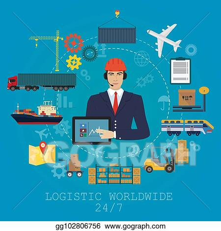 Vector Stock - Vector logistics manager agent concept  delivery