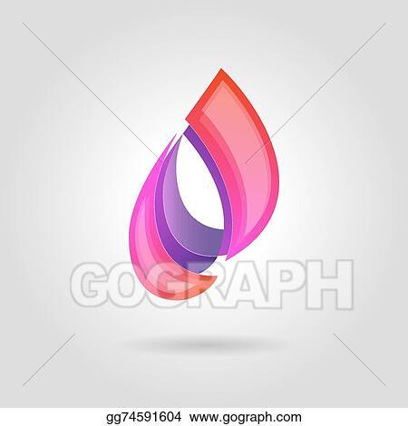 Vector Clipart - Vector logo design elements  abstract blue water