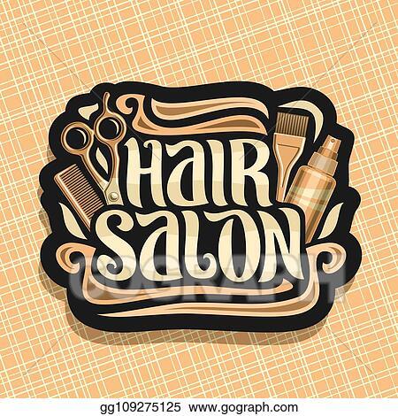 EPS Illustration - Vector logo for hair salon. Vector ...