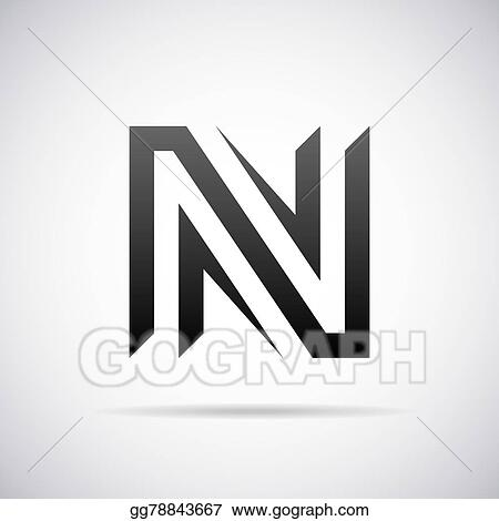 Vector Art Vector Logo For Letter N Clipart Drawing Gg78843667