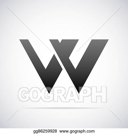 Vector Art - Vector logo for letter w  design template