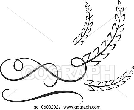 vector art vector logo template rice with calligraphic swirls