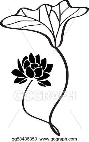 Vector Art Vector Lotus Flower Clipart Drawing Gg58436353 Gograph