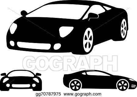 Vector Clipart Vector Luxury Car Silhouettes Vector Illustration