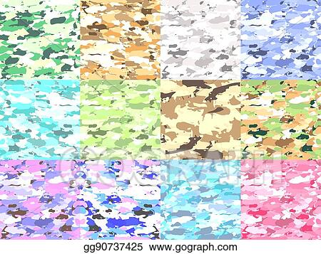 Vector Illustration - Vector military camouflage patterns