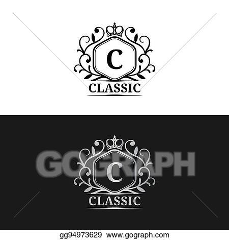 Vector Stock - Vector monogram logo template  luxury letter design