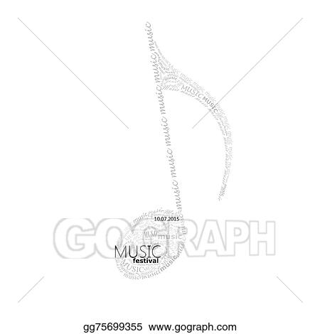 Clip Art Vector - Vector music illustration of a music note