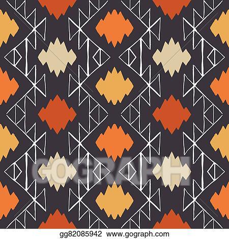 93c05f59b0a16 EPS Vector - Vector navajo tribal ornament. Stock Clipart ...