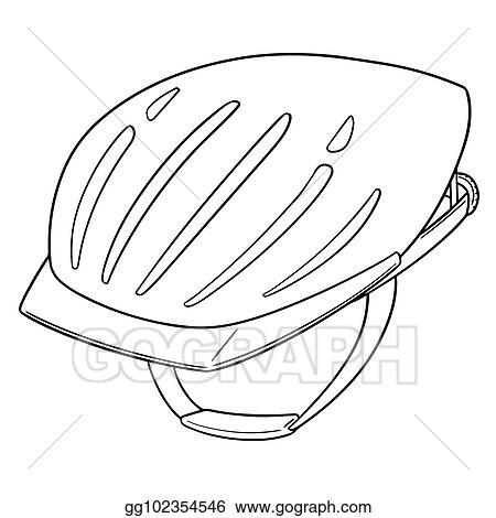 Vector Art Vector Of Bicycle Helmet Clipart Drawing Gg102354546