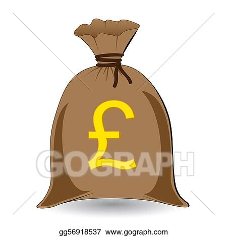 Vector Art Vector Of Full Money Sack Of Pounds Clipart Drawing