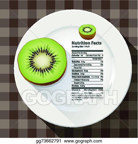 Eps Illustration Vector Of Nutrition Facts Kiwi Vector Clipart Gg73662791 Gograph