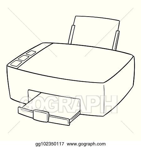 vector stock vector of printer clipart illustration gg102350117 gograph https www gograph com clipart license summary gg102350117