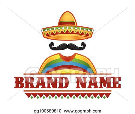 Vector Of Sombrero And Mustache Perfect For Mexican Restaurant Logo