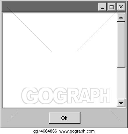 School Window Clipart vector art - vector old school computer windows bar ok button