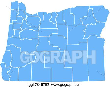 EPS Vector - Vector oregon state map. Stock Clipart ...