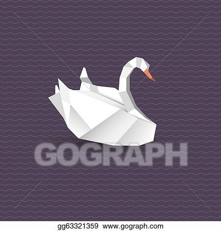 Vector Stock Vector Origami Swan Stock Clip Art Gg63321359 Gograph