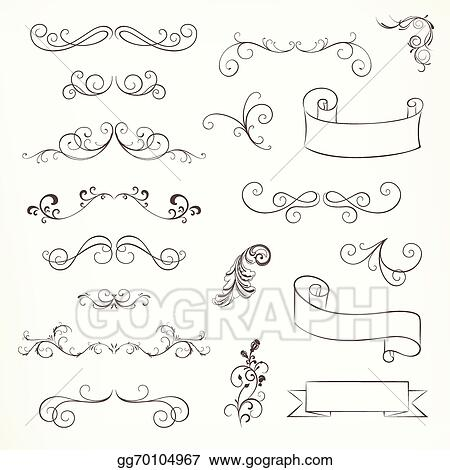Vector Stock - Vector ornate frames and scroll elements. Stock Clip ...