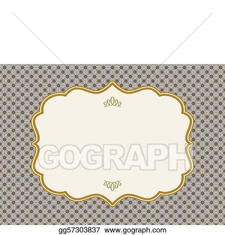 eps illustration vector ornate gold frame vector clipart