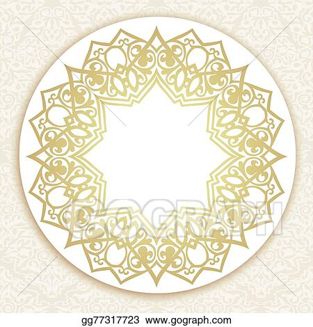 vector clipart vector ornate round border in eastern style