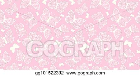 vector pastel pink butterflies repeat seamless pattern background can be used for fabric wallpaper stationery packaging gg101522392