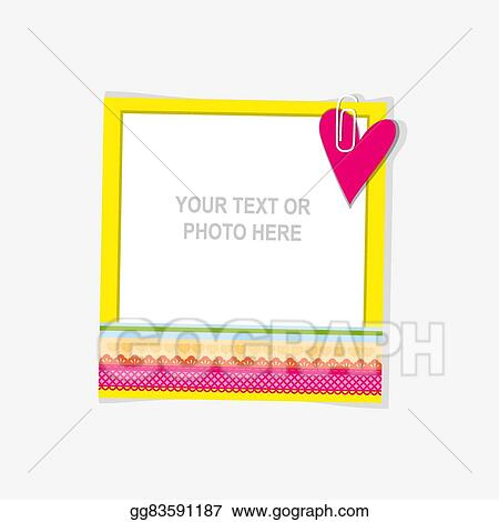 eedd1e1ad9eb Vector Stock - Design photo frame on nice background. decorative template  for baby