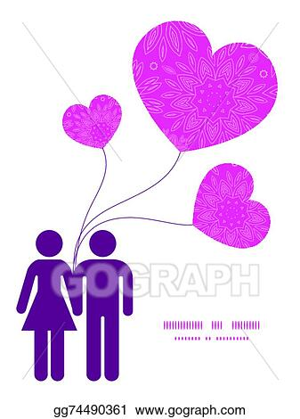 Vector Art - Vector pink abstract flowers texture couple in love ...