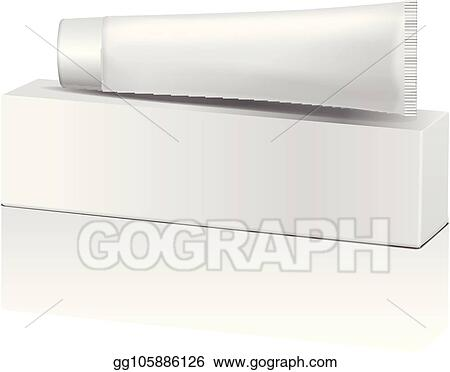 Vector Illustration Vector Plastic Tube And White Box For Medicine Or Cosmetics Toothpaste Cream Gel Skin Care Packaging Mockup Template Eps Clipart Gg105886126 Gograph