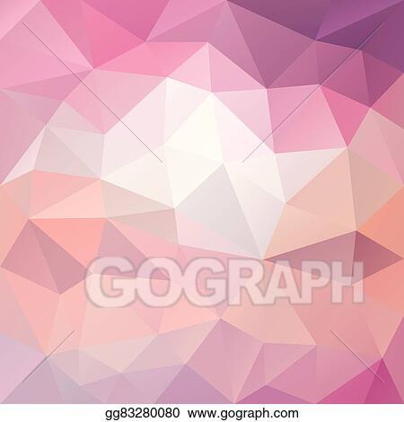 Vector Polygon Background With Irregular Tessellation Pattern