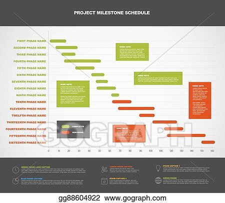 vector clipart vector project timeline gantt graph vector