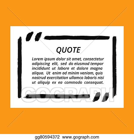 vector art vector quote blank frame template clipart drawing