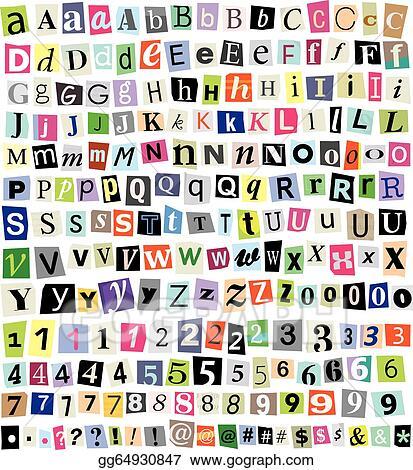 Vector illustration vector ransom note cut paper letters numbers vector ransom note cut paper letters numbers symbols spiritdancerdesigns Images