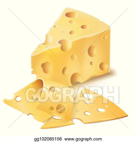 Plate With Different Types Of Sliced Cheese Royalty Free Cliparts, Vectors,  And Stock Illustration. Image 86846099.